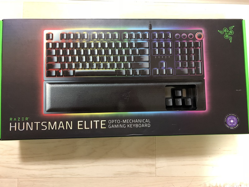 RAZER HUNTSMAN ELITEの外箱